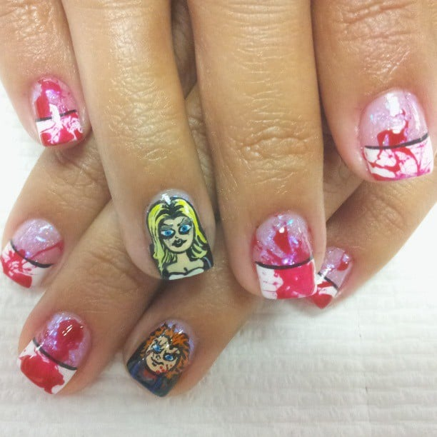 Bride Of Chucky Horror Movie Nail Art Inspiration Popsugar