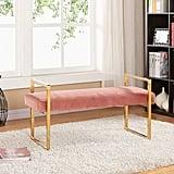 Meridian Furniture Olivia Velvet Upholstered Bench
