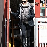 Charlize Theron grabbed lunch in Boston on Monday and headed back to the set of Hatfields & McCoys, which she is producing.