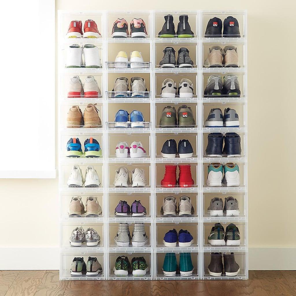 Large Drop-Front Shoe Box Case of 6