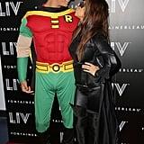 Kourtney Kardashian and Scott Disick went as Batman characters in Miami Wednesday.
