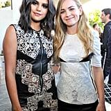 Selena Gomez and Britt Robertson