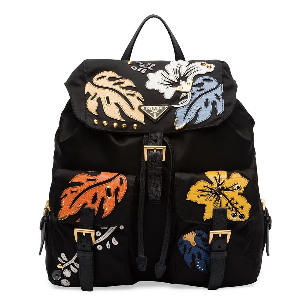 89fa0eaf777278 Prada Hawaiian Double-Pocket Backpack, Black (Nero) ($1,660) | Fall ...