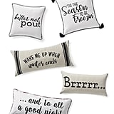 Winter Happens Pillow Collection and Winter Blues Pillows