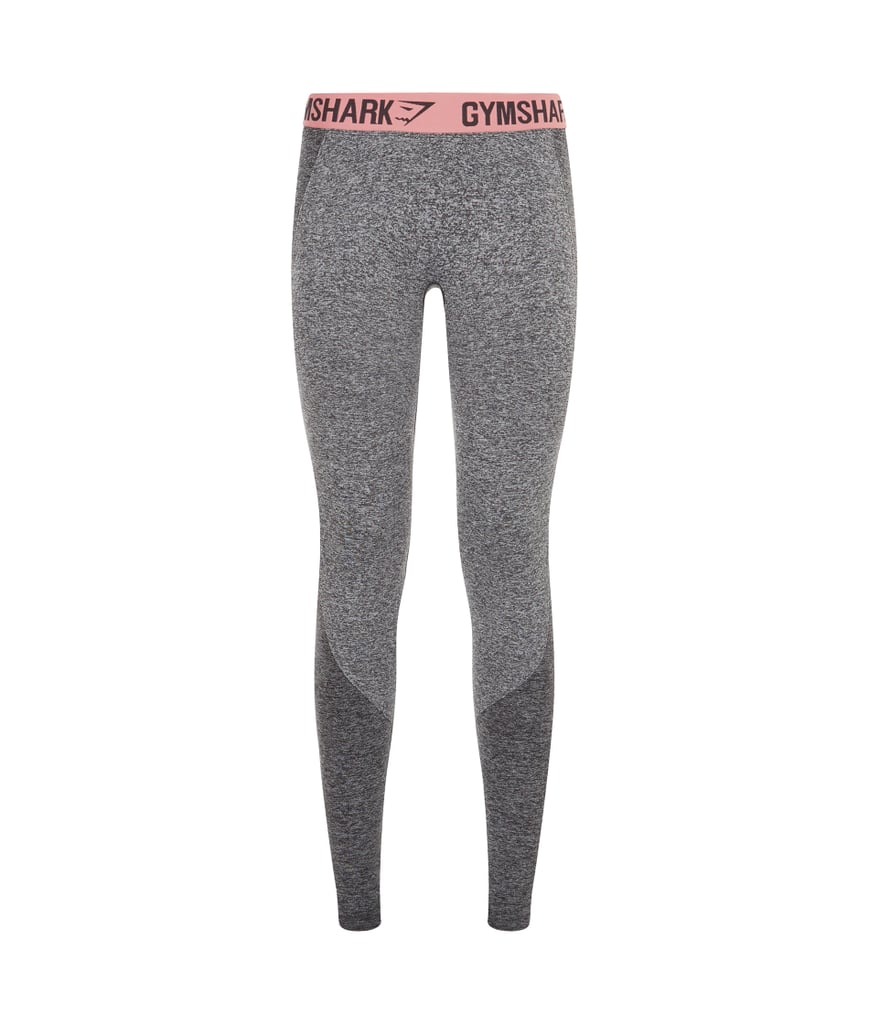 12225ea02b0d43 Gymshark Flex Leggings in Charcoal Marl/Peach Pink ($38) | Gymshark ...