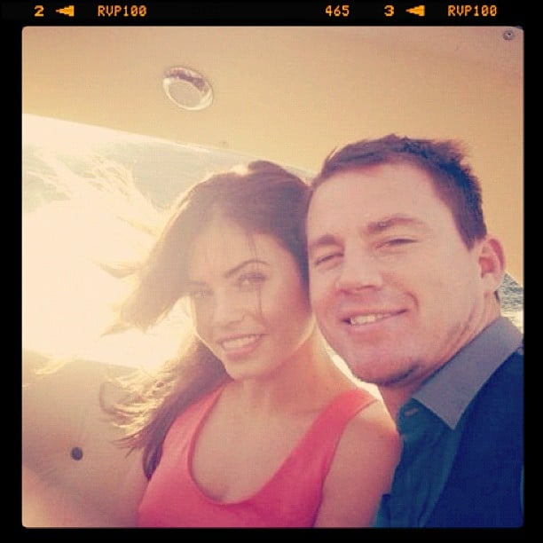 Channing Tatum and Jenna Dewan-Tatum shared a photo from their time on George Clooney's boat in Italy. Source: Instagram user channingtatumunwrapped