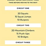 Click for a pintable PDF of this workout. Keep reading for detailed explanation of the exercises.