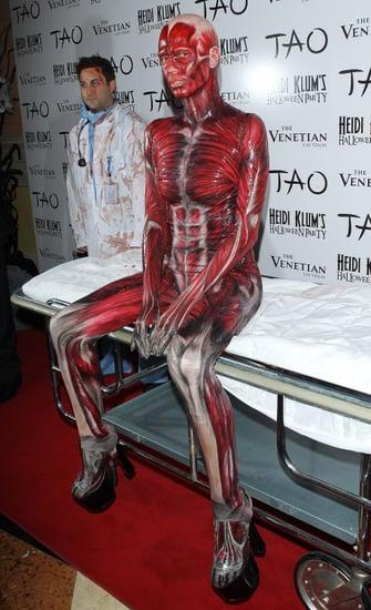 Heidi Klum's Bodies Cadaver Halloween Costume 2011
