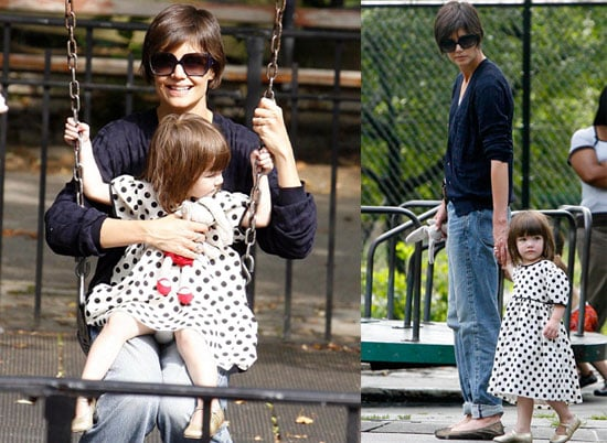 Photos of Katie Holmes and Suri Cruise Playing in the NYC park