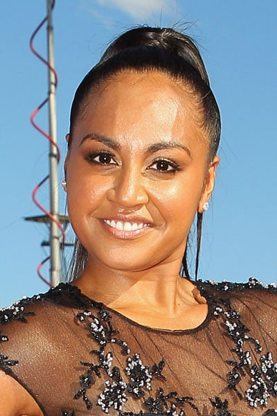Pictures of Jessica Mauboy's High Ponytail and Makeup from the 2011 ARIA Awards