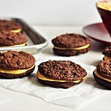 Pumpkin Chocolate Cookie Sandwiches