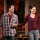 Katie Holmes was on stage in NYC.