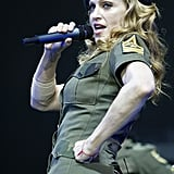 In uniform for her 2004 Re-Invention Tour.