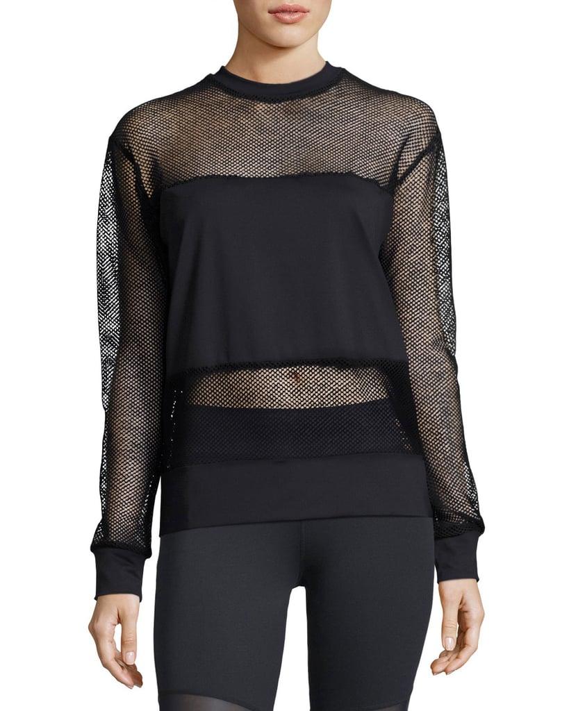 Varley Carlton Mesh Sweatshirt in Black