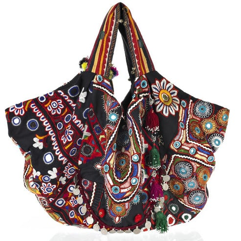 Carryall Embroidered Cotton Bag