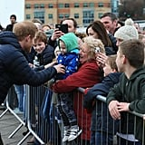 Prince Harry at Training Session in England February 2017