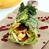 "Savoy Cabbage ""Breakfast Burrito"" With Sweet Potato Noodles"