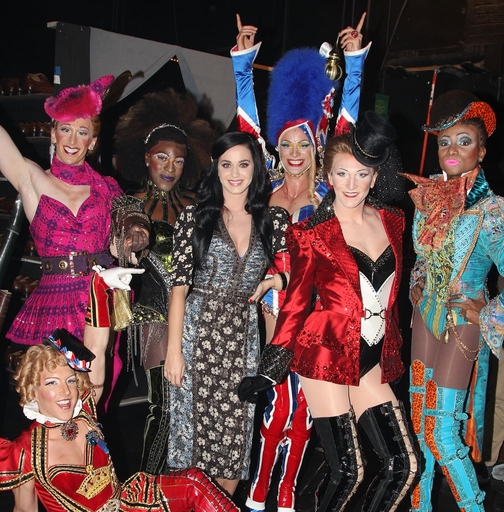 Katy Perry met the cast of Kinky Boots backstage.