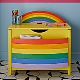 Drew Barrymore Flower Kids Rainbow Book Pocket and Toy Storage Bin