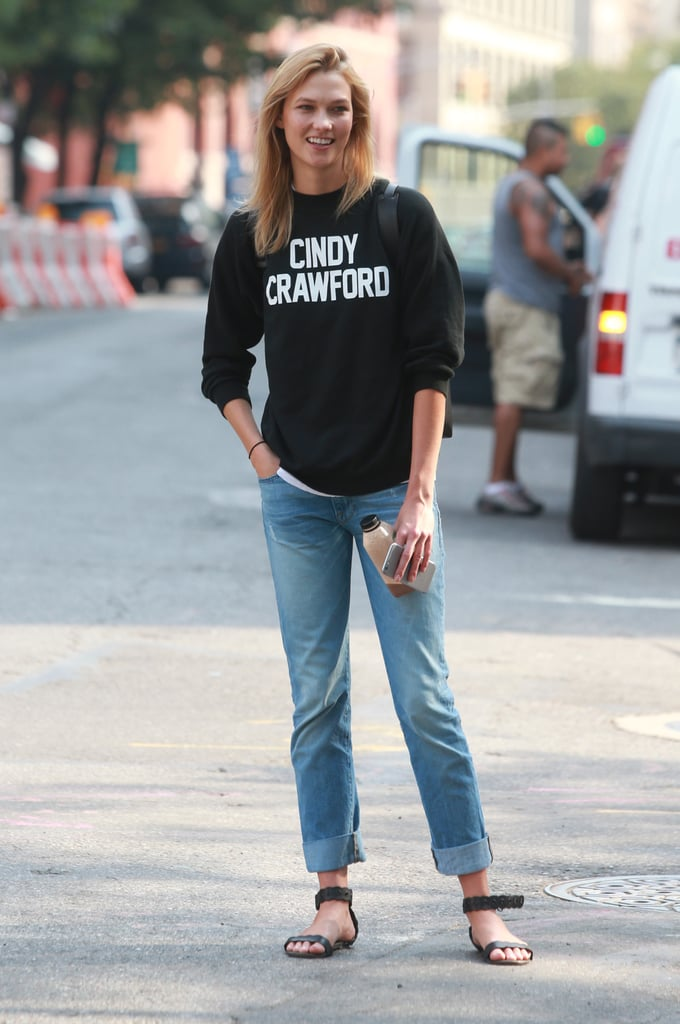 Karlie Kloss Cindy Crawford Sweatshirt From Reformation   POPSUGAR ...