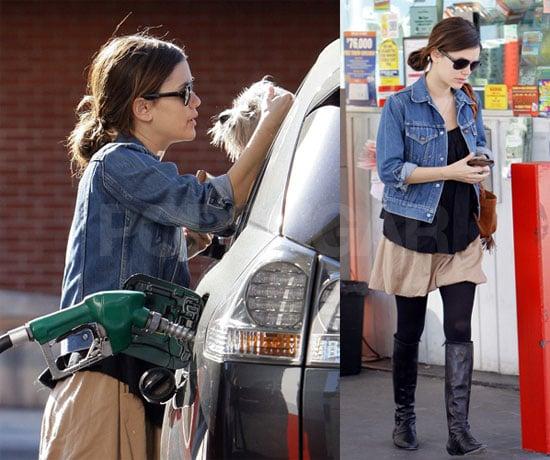 Rachel Bilson at the Gas Station