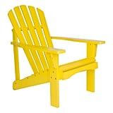 Shine Company Rockport Lemon Yellow Cedar Wood Adirondack Chair