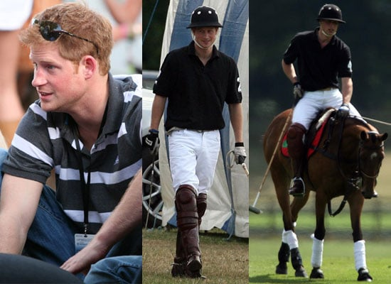 Photos of Prince Harry at Wireless Festival and Prince William on Motorbike at Polo