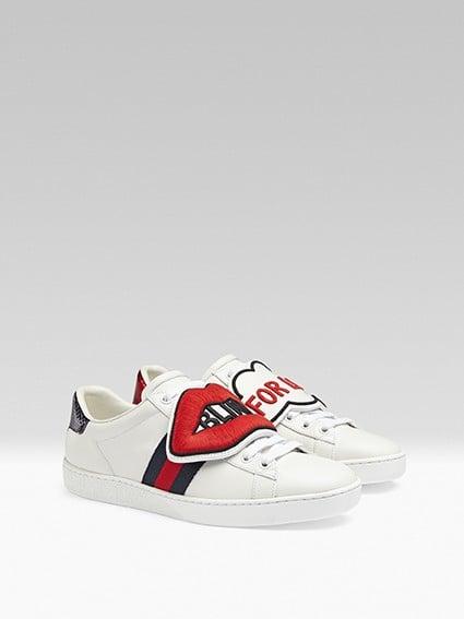 Gucci Ace Patch Sneakers | POPSUGAR Fashion