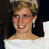 Princess Diana With a Soft Wave Pixie in 1986