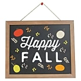 Harvest Happy Fall Hanging Wood Sign