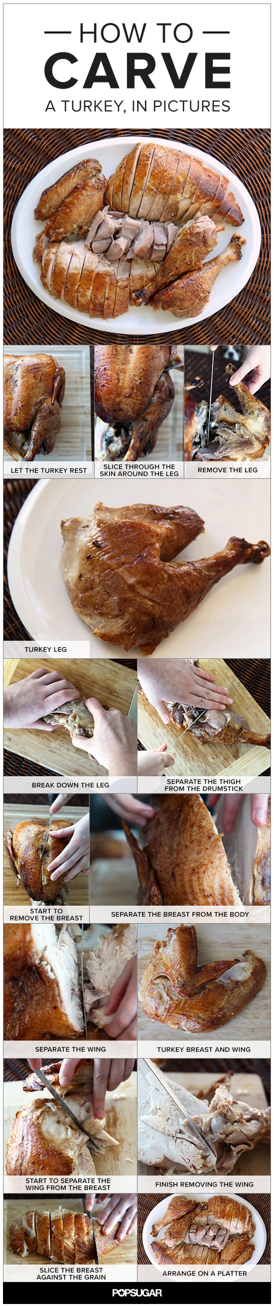 How to Carve a Turkey, in Pictures
