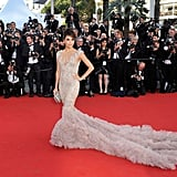 One more shot of Eva Longoria's red-carpet Marchesa moment — what a dress!