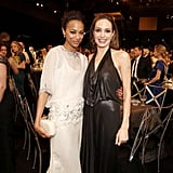 Angelina and Zoe posed for a photo together.