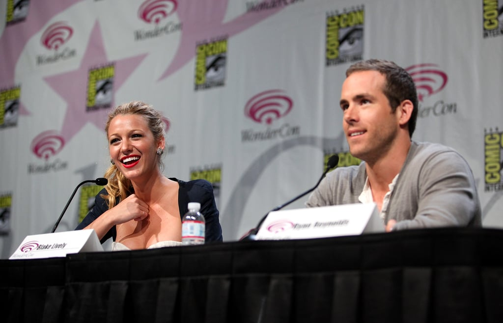 """Ryan Reynolds and Blake Lively showed off their sweet chemistry and an exciting Green Lantern sneak peek at WonderCon in San Francisco on Friday. The good-looking duo hit the red carpet, where he excitedly described the movie as a """"space epic"""" and she was decked out in Carven to discuss her butt-kicking character. Don't miss all our WonderCon coverage from Superman to Cowboys and Aliens to Breaking In! Blake and Ryan were coming straight from Las Vegas where they promoted Green Lantern at CinemaCon to kick off a very busy couple months of red carpet duties. These two will be all over the place before their movie's June 17 release, but before then she'll be back on the small screen when Gossip Girl returns on April 18. We finally got a look at what happens in the wake of the Blair-Dan kiss and know that Serena will be taking a trip to the West Coast."""