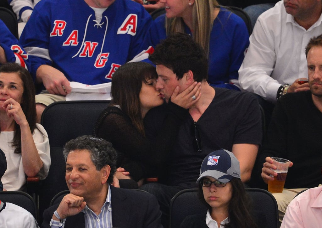 Lea Michele kissed Cory Monteith in the crowd.
