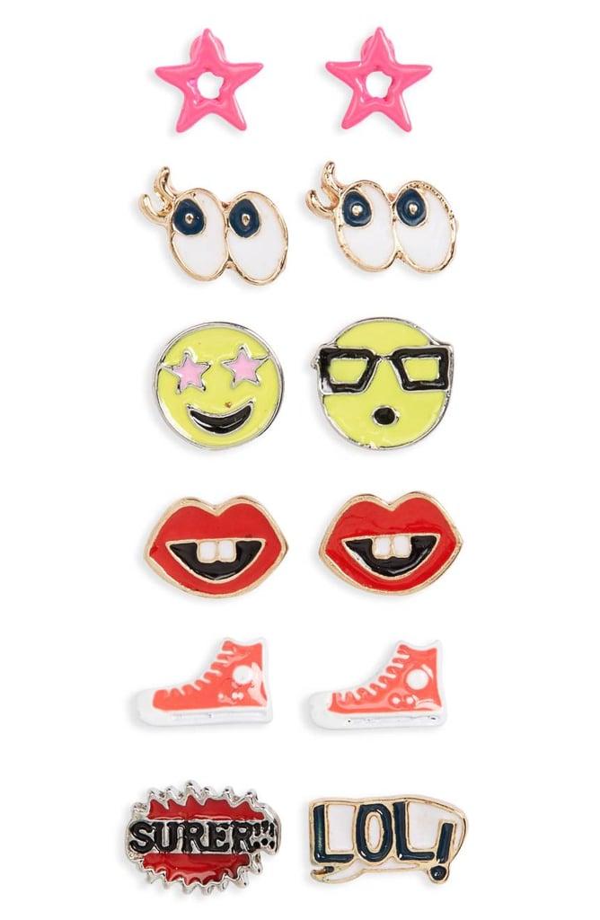 Capelli of New York Emoji Earrings