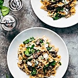 Pasta With Mushrooms, Spinach, and Goat Cheese