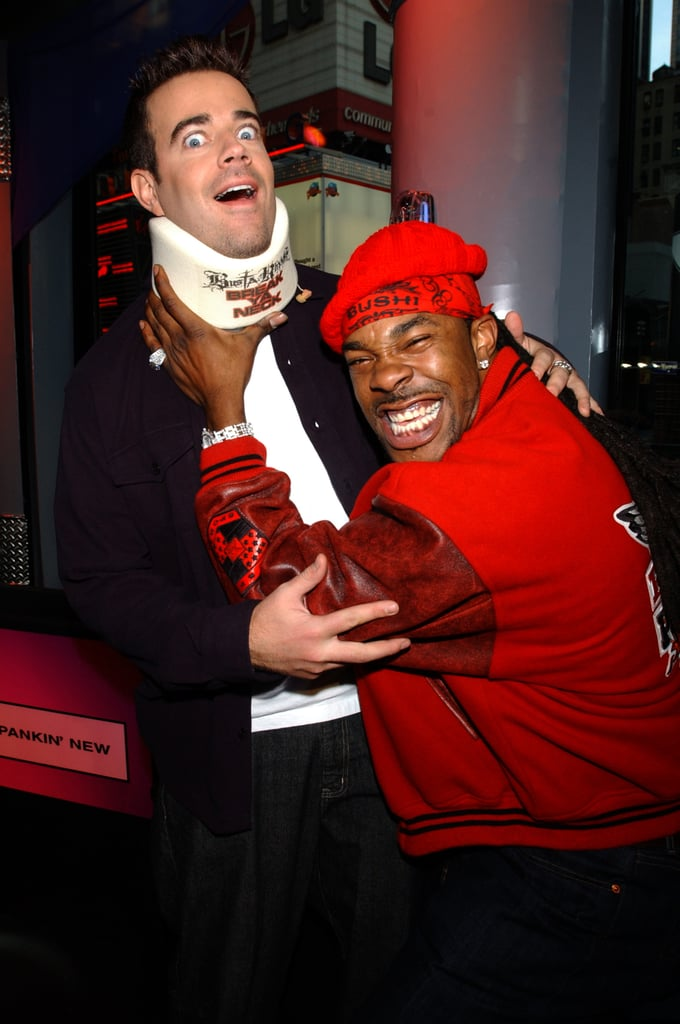 Busta Rhymes goofed off with Carson Daly when he visited TRL in 2001.