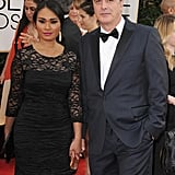 Chris Noth and Tara Wilson attended the Golden Globes.
