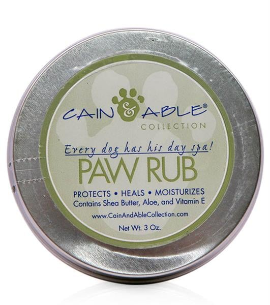 Cain & Able's Paw Rub ($10) is made from human-grade ingredients to moisturize and heal dry paws, elbows, and noses.