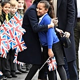 Meghan Hugged a Schoolgirl in Birmingham