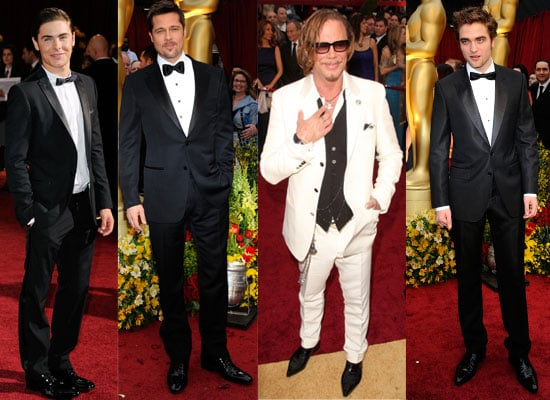 Photos From The 2009 Oscars Red Carpet, Featuring Robert Pattinson, Zac Efron, Brad Pitt, Mickey Rourke, Dev Patel and more
