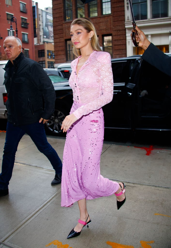 Gigi Wore Her Prada Heels With Nina Ricci Separates