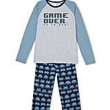"Bauhaus ""Game Over"" Knit Top and Flanelette Pant Pyjama Set ($30) (Sizes 8-16)"