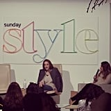 Sunday Style's Kelly Hume gave a fascinating talk at Fashion Weekend Edition, all about the art of styling magazine covers.