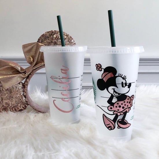 Personalized Disney Iced Coffee Cups From Etsy