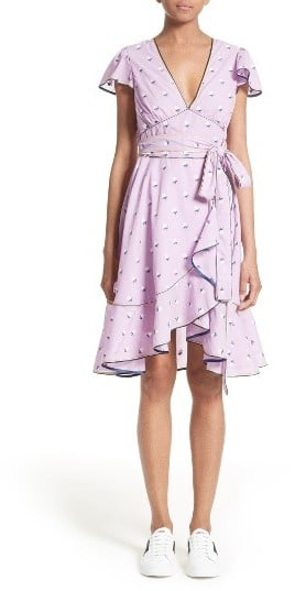 Marc Jacobs Ruffle Reverse Fil Coupe Dress