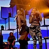 """Ariana and Nicki performed their hit """"Bang Bang"""" without Jessie J at the iHeartRadio music festival."""