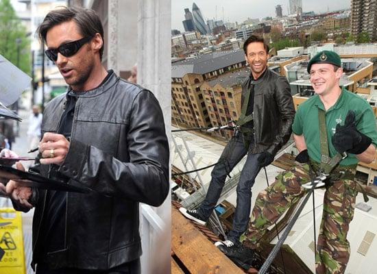 Photos of Hugh Jackman Abseiling in London