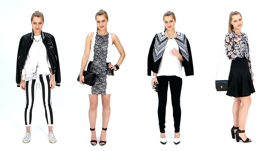 See How We're Wearing Spring's Black-and-White Trend Now